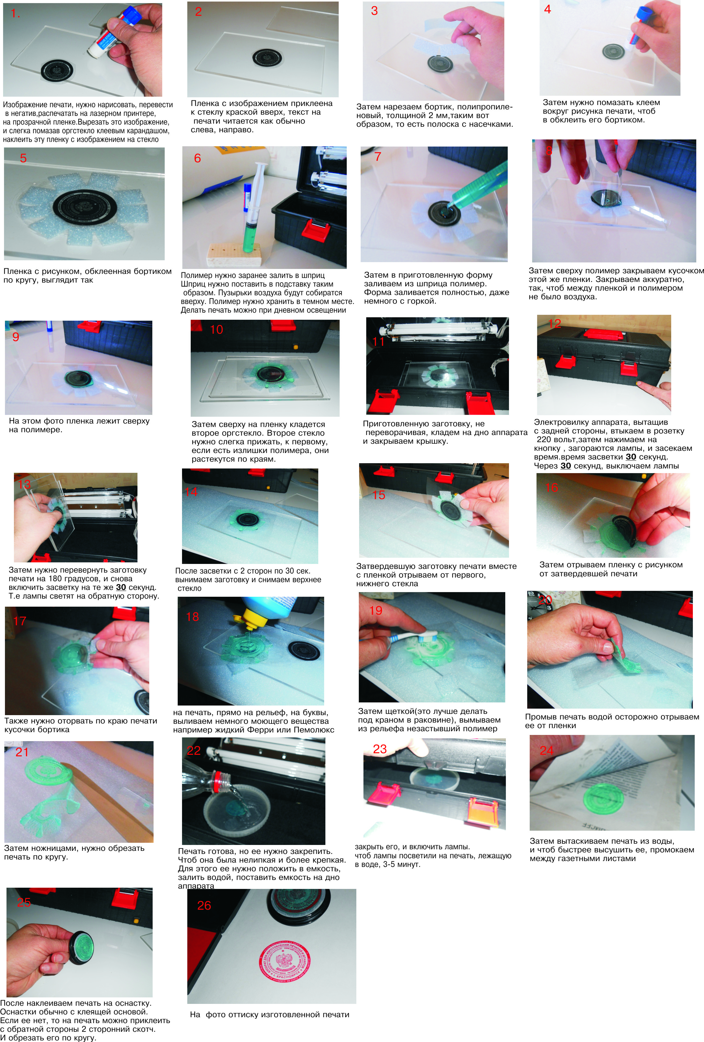 инструкция использования печатей и штампов